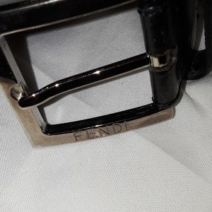 Fendi vintage leather belt, size small
